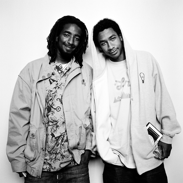 ANCHORAGE, ALASKA - 2007: Professional Skateboarders Karl Watson and Adrian Williams.