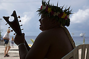 Ukulele, Takapoto, Tuamotu Islands, French Polynesia, (Editorial use only)<br />