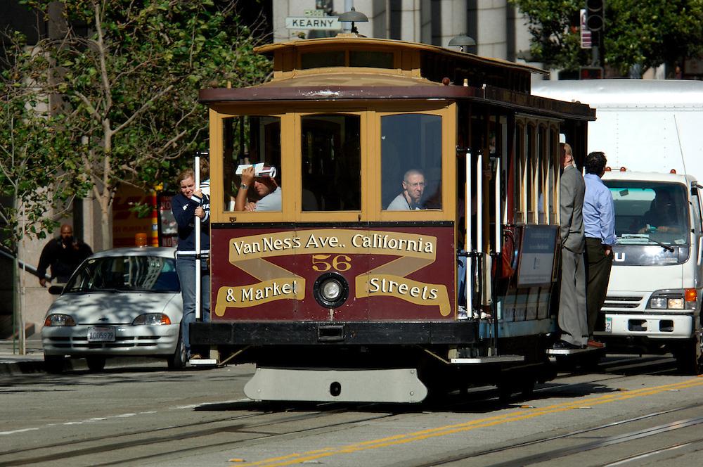 Cable Car, California Street, Chinatown, San Francisco, California, United States of America