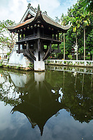 The One Pillar Pagoda or as it is sometimes known the Single Pillar Pagoda (In Vietnamese: Chua Mot Cot) is a historic Buddhist temple in Hanoi and regarded with the Perfume Temple as one of Vietnam's most iconic temples. <br /> The temple is built of wood on a single pillar and was designed to resemble a lotus blossom, the Buddhist symbol of purity.