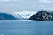 Alaska, Yakutat Bay and Hubbard Glacier as seen from the sea