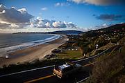 Highway 1 winds its way past Stinson Beach, Calif., December 12, 2012.