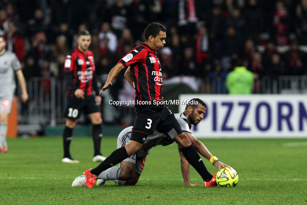 Alaixys ROMAO / Carlos Eduardo  - 23.01.2015 - Nice / Marseille - 22eme journee de Ligue 1<br />