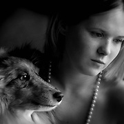 Girls Best Friend-Aleandra Rothacker and her  best friend, her dog. (model released)