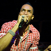"""Bladensburg, MD - April 11, 2010 - Grammy Award-nominated reggae artist """"Baby"""" Cham performs at the Corssroads Club. (Photo by Kyle Gustafson)"""