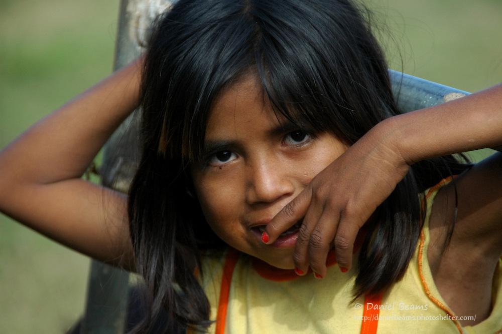 Ayore girl in Pozo Verde, Santa Cruz, Bolivia