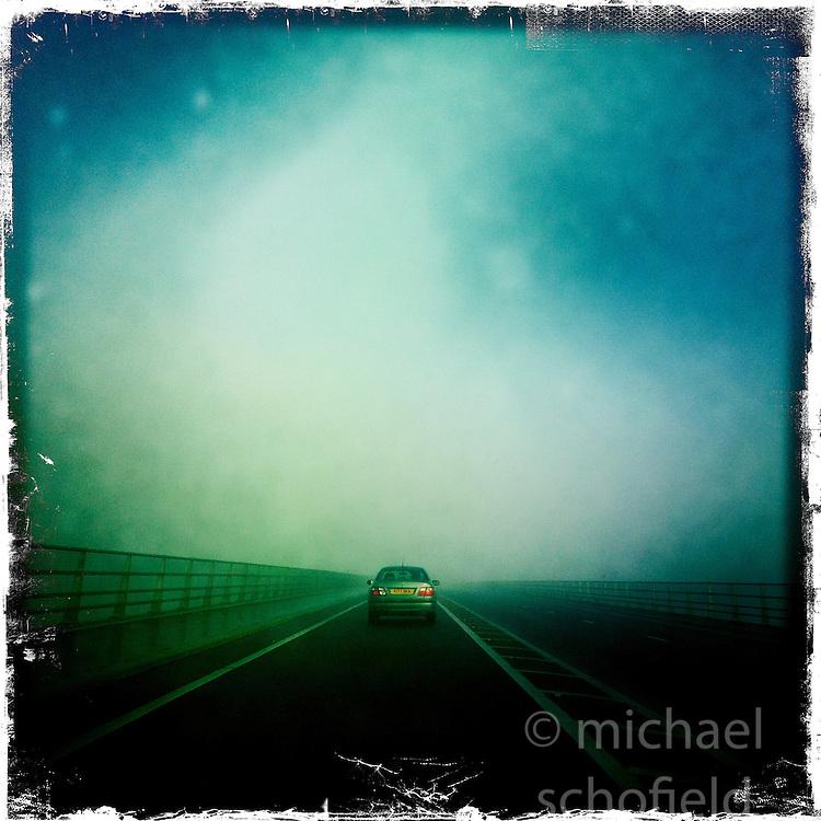 Clackmannanshire Bridge..Hipstamatic images taken on an Apple iPhone..©Michael Schofield.