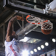 Delaware 87ers Guard RUSS SMITH (5) dunks the ball in the second half of a NBA D-league regular season basketball game between the Delaware 87ers and the Westchester Knicks Tuesday, JAN, 19, 2016 at The Bob Carpenter Sports Convocation Center in Newark, DEL