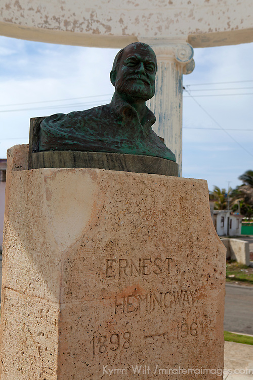 Central America, Cuba, Cojimar. Ernest Hemingway Bust, made by local fisherman in Cojimar.