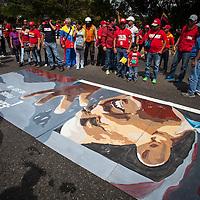 Traslado funebre de Hugo Chavez hacia el 23 de Enero. Caracas, 15 Marzo, 2013 (Foto / Ivan Gonzalez)
