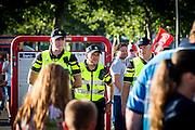 ROTTERDAM - Feyenoord - FC Utrecht , Voetbal , Seizoen 2015/2016 , Eredivisie , Stadion de Kuip , 08-08-2015 , Politie is aanwezig bij de wedstrijd en loopt rond op het plein voor de Kuip