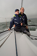 Image licensed to Lloyd Images - Free for editorial use<br /> The 2015 Artemis Challenge as part of Aberdeen Asset Management Cowes Week 2015. Cowes. Isle of Wight. Pictures of Zara Phillips and Mike Tindall on board Artemis Ocean Racing Credit: Lloyd Images