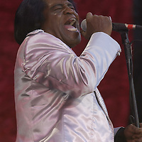 James Brown onstage performing at the United We Stand: What More Can I Give? Concert a music benefit in the Nation's Capital to raise money in support of the recovery efforts from the September 11th attacks on America. The proceeds will go to various relief funds.  October 21, 2001 (Photo: Jeff Snyder)