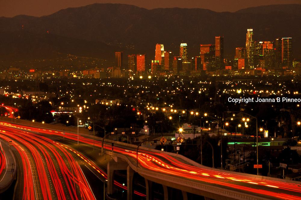 Los Angeles at twilight.