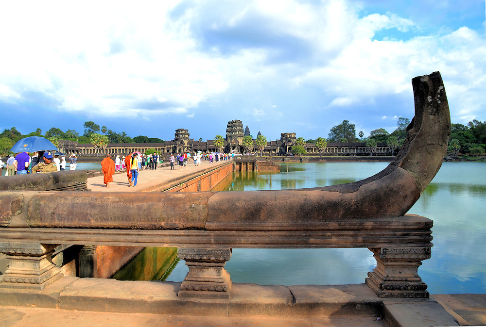 Introduction to Angkor Archaeological Park, Cambodia<br /> The Angkor Archaeological Park is a fascinating UNESCO World Heritage Site. These Khmer temple ruins were primarily built from the 9th until the 12th centuries. This former &ldquo;Temple City&rdquo; is the pride of Cambodians and visited by over two million people a year. The park stretches for over 150 square miles, making it the world&rsquo;s largest religious complex. However, the core sections are Angkor Thom, Bayon Temple, Ta Prohm (Jungle Temple) and Angkor Wat shown here.