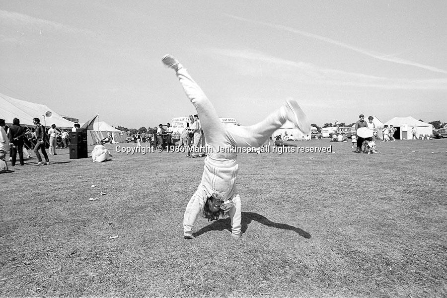 Carla Scott, Manton. Yorkshire Miners Gala. 1986 Doncaster.