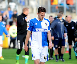 A dejected Tom Lockyer of Bristol Rovers - Mandatory byline: Neil Brookman/JMP - 07966 386802 - 24/10/2015 - FOOTBALL - Memorial Stadium - Bristol, England - Bristol Rovers v Newport County AFC - Sky Bet League Two