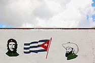 Wall in Gaspar, Ciego de Avila, Cuba.