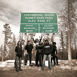 See-I splits the rain on the Continental Divide while on tour in Colorado.