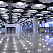 interior of airport, madrid, spain