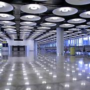 interior of airport, madrid, spain