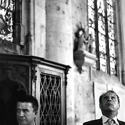 Bertrand Pancher, depute du sud meusien en compagnie de Gerard Longuet, senateur. ..Inauguration d'oeuvres de Ligier Richier a l'eglise de Saint-Mihiel...mercredi 3 octobre 2007..Photo : Antoine Doyen