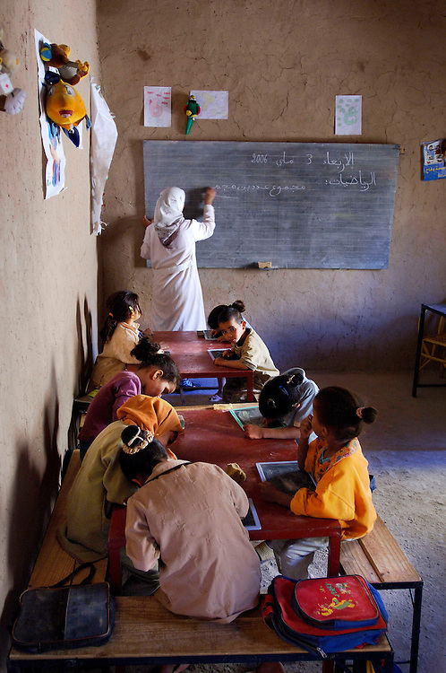 Escola Bressol, Schooll Children, Association El Khorbat Aedi, Ksar Tinejdad, Morocco