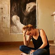 LISBOA, 01/10/2014- A artista pl&aacute;stica Marta Ubach, um dos nomes que vai expor na inaugura&ccedil;&atilde;o da nova Galeria das Salgadeiras que abre com uma exposi&ccedil;&atilde;o que tem como tema a &quot;Mensagem&quot; de Fernando Pessoa<br />  Paulo Alexandrino / Global Imagens