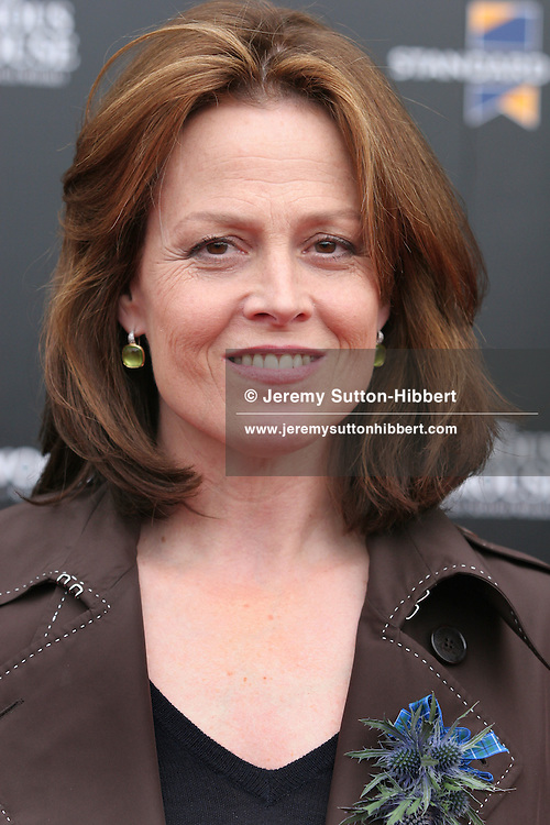 """Sigourney Weaver is presented with a """"Diamond Award"""" for Lifetime Achievement at the Cineworld cinema, Edinburgh Film Festival call in Edinburgh, Scotland, on Tuesday 15th August 2006. It is the first time this award has been presented."""