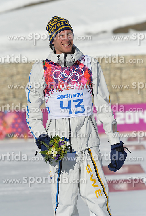14.02.2014, Laura Cross-country Ski &amp; Biathlon Center, Krasnaya Polyana, RUS, Sochi, 2014, Herren Langlauf 15km, Classic, im Bild RICHARDSSON DANIEL PODIUM // RICHARDSSON DANIEL PODIUM during Mens Cross Country 15km Classic Race of the Olympic Winter Games Sochi 2014 at the Laura Cross-country Ski &amp; Biathlon Center in Krasnaya Polyana, Russia on 2014/02/14. EXPA Pictures &copy; 2014, PhotoCredit: EXPA/ Newspix/ TOMASZ JAGODZINSKI<br /> <br /> *****ATTENTION - for AUT, SLO, CRO, SRB, BIH, MAZ, TUR, SUI, SWE only*****