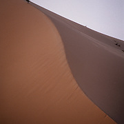 Sand dune at Erg Chebbi, Morocco.