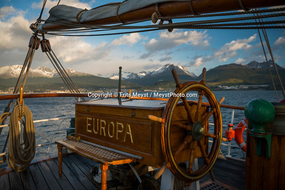 Antarctica, February 2016. The new voyage crew is learning the ropes during sail training. Dutch Tallship, Bark Europa, explores Antarctica during a 25 day sailing expedition. Photo by Frits Meyst / MeystPhoto.com