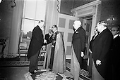 1965 Diplomatic Corps received by president