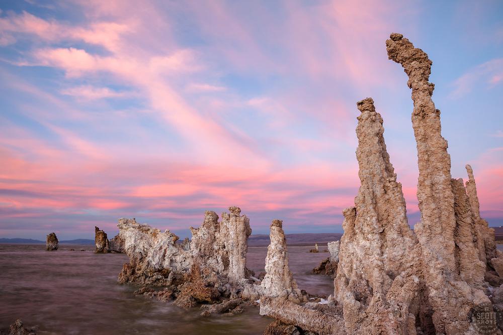 """Sunset at Mono Lake 1"" - These tufa were photographed at Mono Lake, CA"
