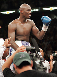 Antonio Tarver poses after his third fight against Roy Jones Jr. for the World Light Heavyweight Championship at the St. Pete Times Arena in Tampa, FL.