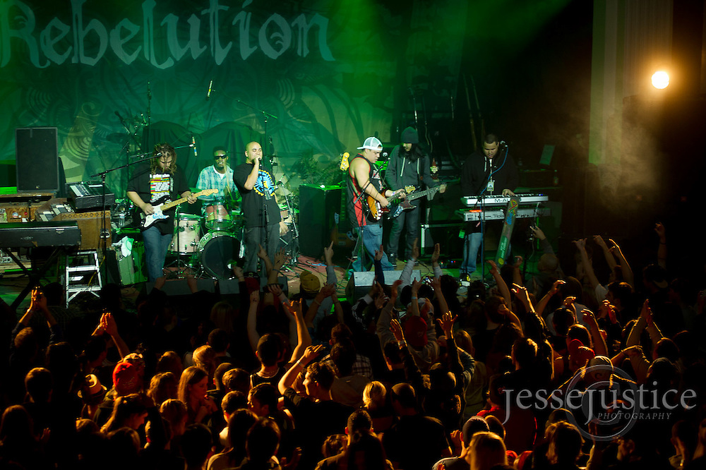 Falls Church, VA, March 7, 2011 - The Green and Giant Panda Guerilla Dub Squad open for Rebelution at the State Theater.