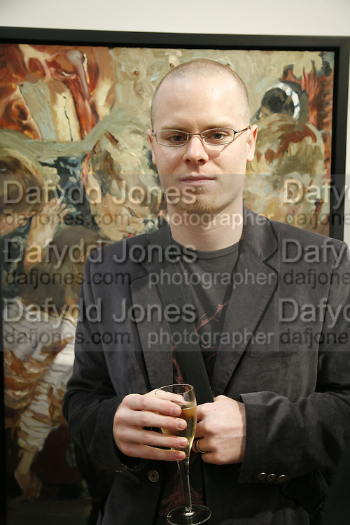 Joshua Hagler, Private view of Your Gallery @the Guardian. 60 Farringdon Rd. London. EC1. 23 October 2006. -DO NOT ARCHIVE-© Copyright Photograph by Dafydd Jones 66 Stockwell Park Rd. London SW9 0DA Tel 020 7733 0108 www.dafjones.com