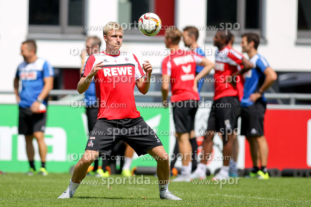 16.07.2015, Geissbockheim, Koeln, GER, 1. FBL, 1. FC Koeln, Training, im Bild Neuzugang Frederik Soerensen (1. FC Koeln #4) // during a practice session of German Bundesliga Club 1. FC Cologne at the Geissbockheim in Koeln, Germany on 2015/07/16. EXPA Pictures &copy; 2015, PhotoCredit: EXPA/ Eibner-Pressefoto/ Schueler<br /> <br /> *****ATTENTION - OUT of GER*****