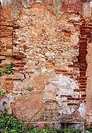 Weathered wall in Playas del Este, Havana, Cuba.