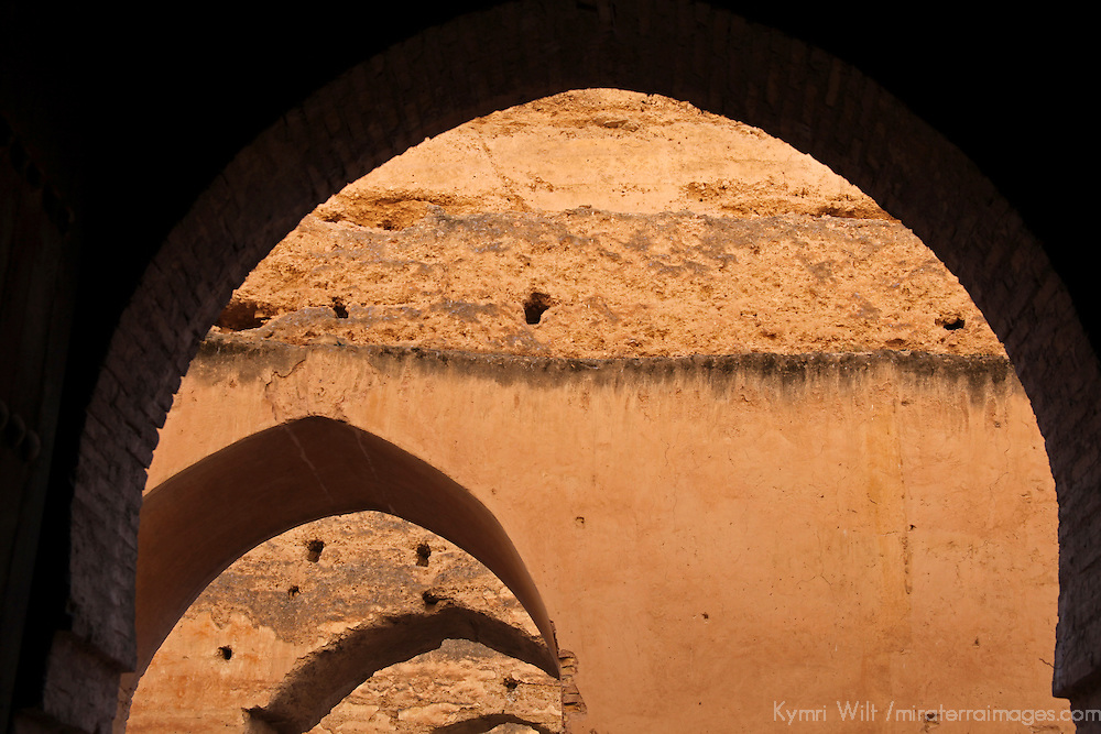 Africa, Morocco, Meknes. Arches of the royal granaries of Moulay Ismaïl.