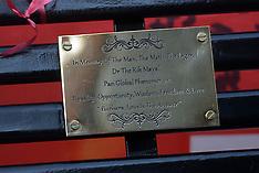 NOV 14 2014 Rik Mayall Memorial Bench