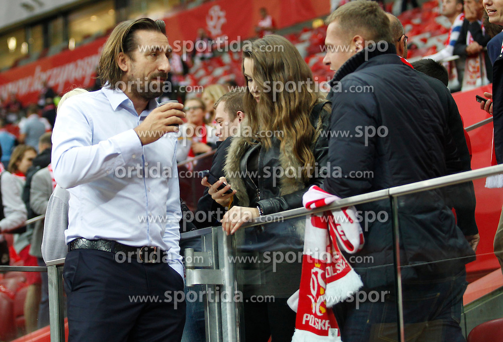 14.10.2014, Nationalstadium, Warsaw, POL, UEFA Euro Qualifikation, Polen vs Schottland, Gruppe D, im Bild TOMASZ IWAN Z DZIEWCZYNA NATALIA JAKULA // during the UEFA EURO 2016 Qualifier group D match between Poland and Scotland at the Nationalstadium in Warsaw, Poland on 2014/10/14. EXPA Pictures &copy; 2014, PhotoCredit: EXPA/ Newspix/ Michal Chwieduk<br /> <br /> *****ATTENTION - for AUT, SLO, CRO, SRB, BIH, MAZ, TUR, SUI, SWE only*****