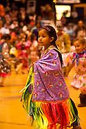 Powwow, kids, Fancy Shawl Dancer, American Indian Council Powwow, Montana State University, Montana.