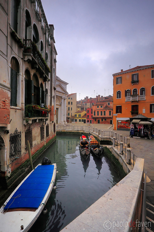 "Campo della Maddalena is a small square in the ""sestiere"" of Cannaregio, one of the six districts of Venice. Taken on an overcast afternoon of mid January."
