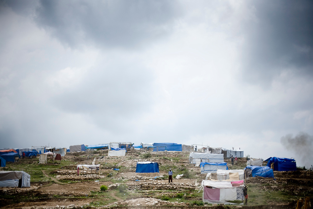 A camp of people displaced by the earthquake in Port Au Prince, Haiti. 4/19/2010. Photo by Ben Depp