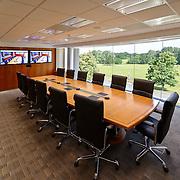 Corporate executive boardroom interior