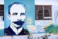 Jose Marti at a school in Santa Lucia, Pinar del Rio, Cuba.