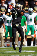 WEST LAFAYETTE, IN - SEPTEMBER 29: Raheem Mostert #8 of the Purdue Boilermakers catches a pass against the Marshall Thundering Herd at Ross-Ade Stadium on September 29, 2012 in West Lafayette, Indiana. (Photo by Michael Hickey/Getty Images) *** Local Caption *** Raheem Mostert
