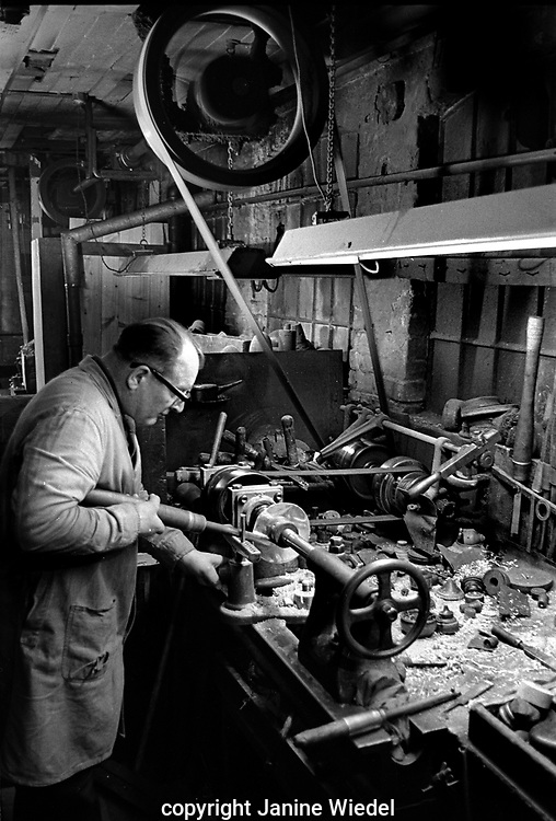Turner and Simpson silversmiths and enamelers in Birmingham's Jewellery Quarter in the 1970s