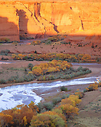 0100-1009B ~ Copyright: George H. H. Huey ~ Canyon de Chelly, sunset, autumn. Canyon de Chelly National Monument, Arizona.